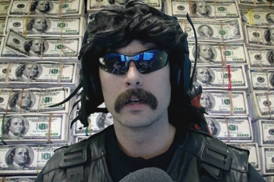 Profits for YouTube Created by DrDisRespect
