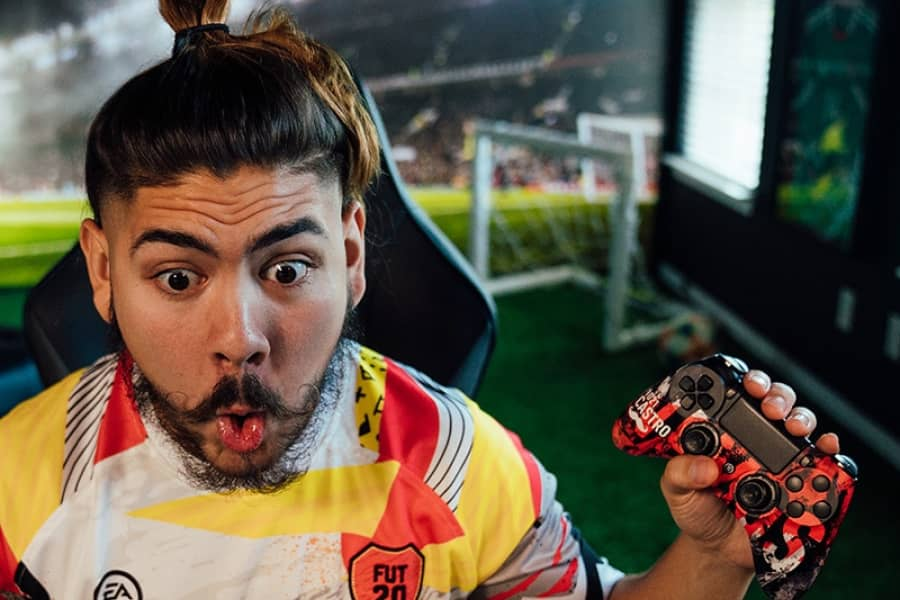 Castro Snaps His Controller In A Rage